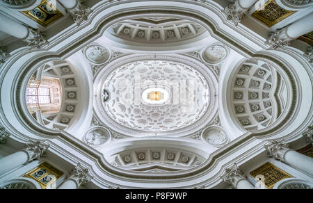 The dome in the Church of Saint Charles at the Four Fountains in Rome, Italy. - Stock Photo