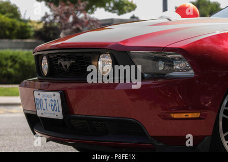 Ford Mustang Front End with Fog Lights On - Stock Photo