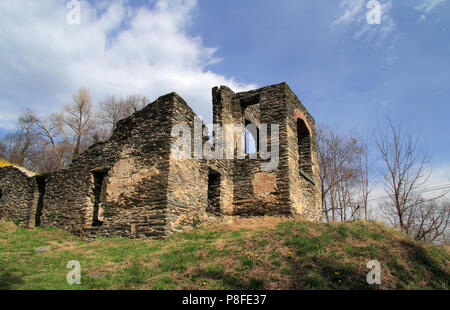 The ruins of St. John's Episcopal Church are one of the numerous historical landmarks along the Appalachian Trail in Harpers Ferry, West Virginia - Stock Photo