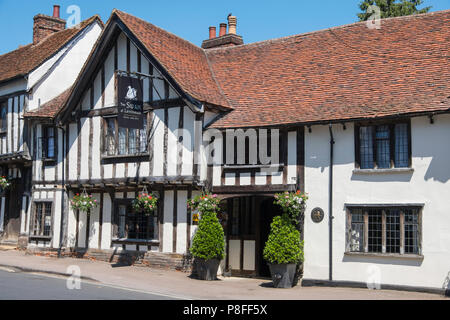 The Swan at Lavenham is a 15th century hotel. - Stock Photo
