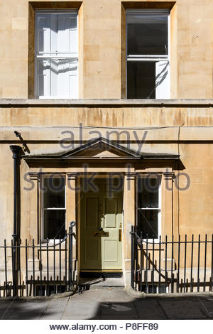 Georgian house front, Bath, Somerset, England, UK - Stock Photo
