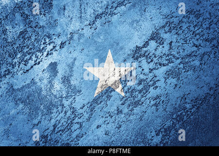 Grunge Somalia flag. Somalia flag with grunge texture. - Stock Photo
