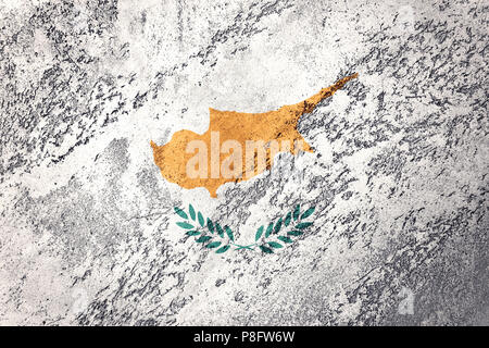 Grunge Cyprus flag. Cyprus flag with grunge texture. - Stock Photo