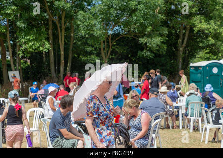 08 July 2018 – Stockton Heath Festival in Cheshire, England, UK, held their eleventh fete on the festival field where hundreds of people protected the - Stock Photo
