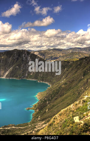 Quilotoa Crater Lake, Ecuador - Stock Photo