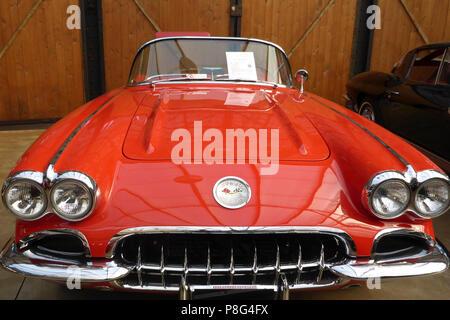 Chevrolet Corvette C1, roadster, 1953 - 1962, modified Blue Flame engine, US-car, muscle car, classic car - Stock Photo