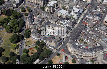 aerial view of Bettys Cafe tea shop & restaurant in Harrogate town centre, North Yorkshire - Stock Photo