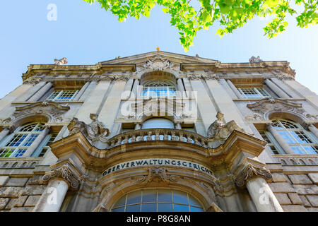 Berlin, Germany - May 08, 2018: facade of the Higher Administrave Court in Berlin. The Court is responsible for the federal states Berlin and Brandenb - Stock Photo