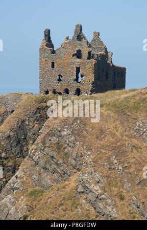 Dunskey Castle near Portpatrick in Dumfries and Galloway, Scotland - Stock Photo