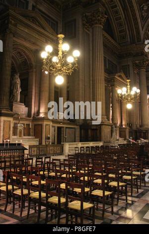 The Sainte-Marie-Madeleine church in Paris (France). - Stock Photo
