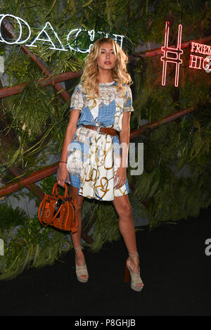 Hailey Baldwin attends the 2016 Coach and Friends Of The High Line Summer Party at the High Line on June 22, 2016 in New York City. - Stock Photo