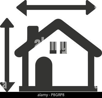 House Plan Icon - Stock Photo
