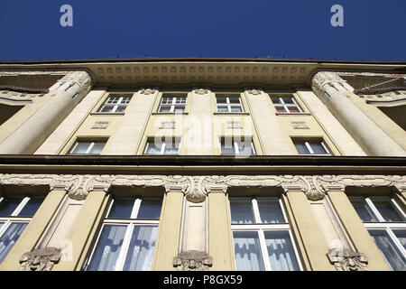 Poland - Bydgoszcz, city in Kuyavia (Kujawy) region. Old town tenement, beautiful landmark. - Stock Photo