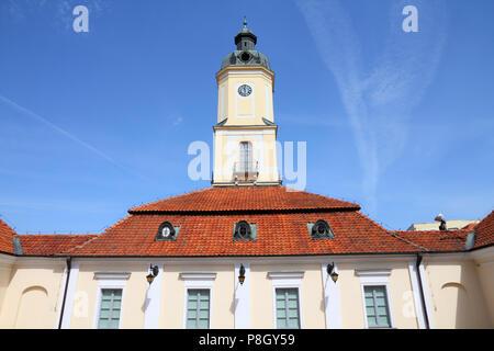 Bialystok, Poland - city architecture, town hall building. Podlaskie province. - Stock Photo