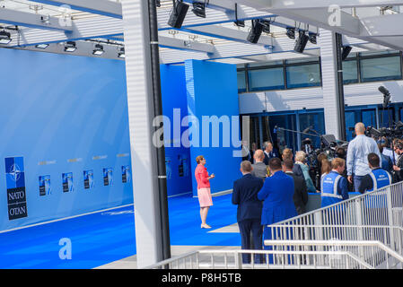 Brussels, Belgium. 11th July, 2018. 11.07.2018. BRUSSELS, BELGIUM. Heads of Government arriving at NATO SUMMIT 2018. Credit: Gints Ivuskans/Alamy Live News - Stock Photo