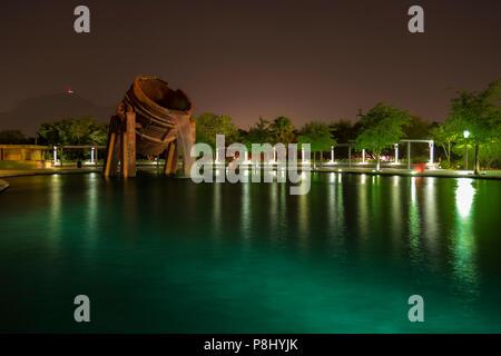 Parque Fundidora de Noche, Monterrey, Nuevo Leon, Mexico - Stock Photo
