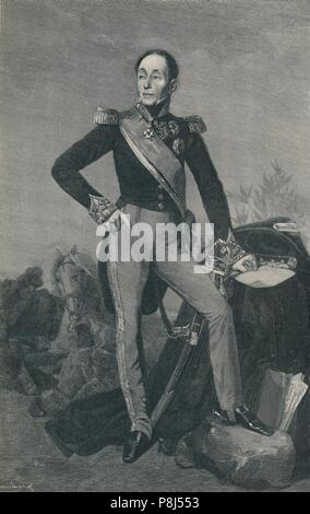 'Marshal Emmanuel, Marquis De Grouchy', c1834, (1896). Artist: Henry Wolf. - Stock Photo