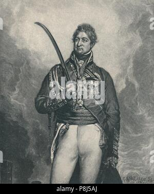 'Sir Thomas Picton', c1810, (1896). Lieutenant-General Sir Thomas Picton GCB (1758-1815), a Welsh officer of the British Army, fought in a number of c - Stock Photo