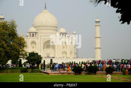 Tourists at  Taj Mahal - Stock Photo