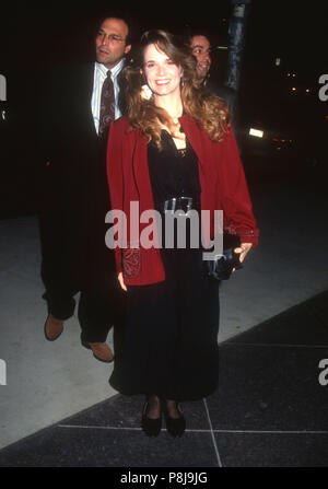 WEST HOLLYWOOD, CA - MARCH 4: Actress Lea Thompson attends the 'Article 99' Premiere on March 4, 1992 at Director's Guild of America Theatre in West Hollywood, California. Photo by Barry King/Alamy Stock Photo - Stock Photo