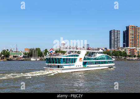 A SPIDO passenger ship, ferrying tourists across Nieuwe Maas, Rotterdam, South Holland, The Netherlands. - Stock Photo