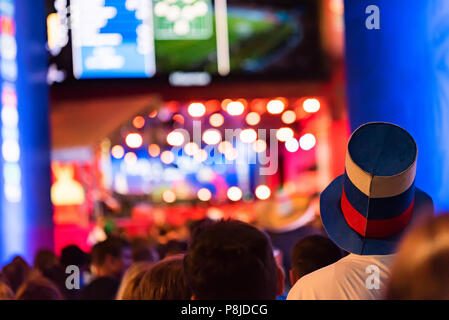 People at FIFA Fan Fest, Rostov-on-Don, Russia - Stock Photo