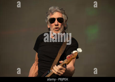 London, UK. 6th July 2018. Roger Waters performs on the Great Oak Stage, British Summer Time 2018. - Stock Photo