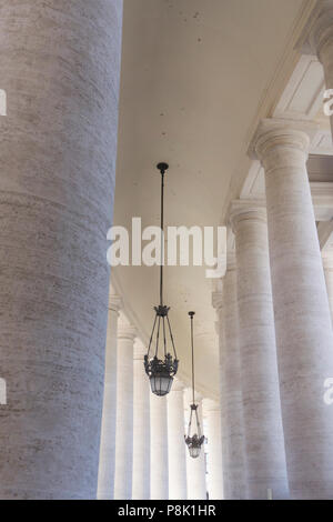 Columns in St Peter's Square Vatican City, Rome - Italy - Stock Photo