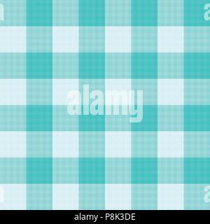 Green Mint Tartan Seamless Background. Vector Illustration. - Stock Photo