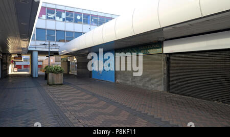 Doncaster Town centre empty retail units, Doncaster, South Yorkshire, England, UK - Stock Photo