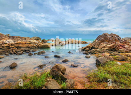 Early morning on the island of Koh Samui in Thailand. - Stock Photo