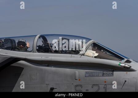 Italian Panavia Tornado at Royal International Air Tattoo, RIAT 2018, RAF Fairford. - Stock Photo