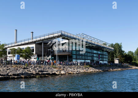 Sunderland, UK. 12th July, 2018. The National Glas Centre during the Tall Ships Race at Sunderland in north-east England. The centre holds information about the glass industry and its history in the north east of England. Credit: Stuart Forster/Alamy Live News - Stock Photo