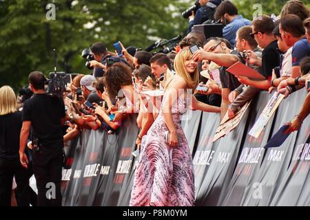 Paris, France. 12 July 2018. Alix Bénézech at the Mission: Impossible - Fallout World Premier red carpet. Credit: Calvin Tan/Alamy Live News - Stock Photo