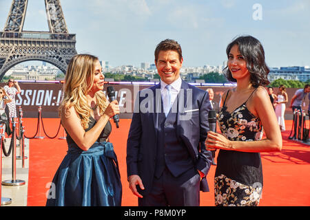 Paris, France. 12 July 2018. Tom Cruise at the Mission Impossible World Premier red carpet. Credit: Calvin Tan/Alamy Live News - Stock Photo