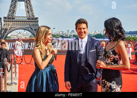 Paris, France. 12 July 2018. Tom Cruise at the Mission: Impossible - Fallout World Premier red carpet. Credit: Calvin Tan/Alamy Live News - Stock Photo