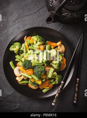 Stir fried vegetables - Stock Photo