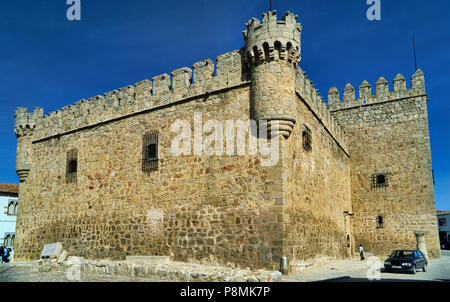 Castle of Perez de Guzman in town center of Orgaz, province of Toledo, Castile-La Mancha, Spain - Stock Photo