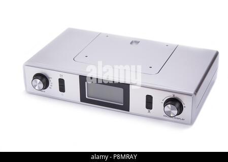 Kitchen radio to mount under cabinet on the white - Stock Photo