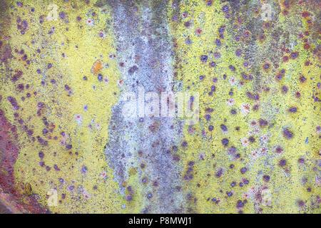Grunge rusty yellow-red textured background - Stock Photo