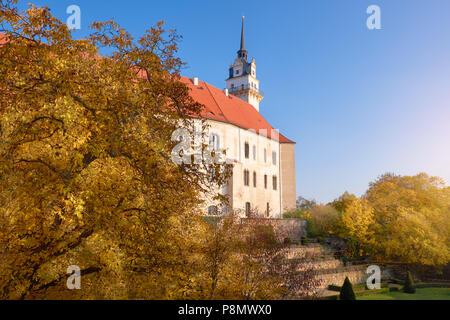 Hartenfels castle in Torgau, a town in northwestern Saxony, Germany - Stock Photo