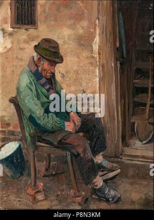 .   291 Friedrich Kallmorgen Mecklenburgischer Bauer 1911 - Stock Photo