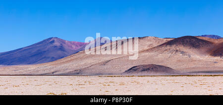 with volcanic cones - Stock Photo