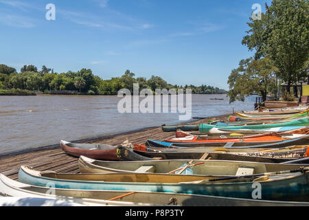 Row Boats at Tigre Delta - Tigre, Buenos Aires Province, Argentina - Stock Photo