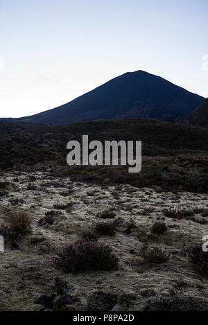 Tongariro Alpine Crossing, New Zealand, Mount Ngauruhoe - Stock Photo