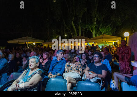 Rome, Italy. 10th July, 2018. The two musicians of Argentina origin but naturalized in Italy have performed on 10/7/2018 on the stage of the musical review 'Gianicolo in Musica' presenting their latest album 'Estandars'. Audience Credit: Leo Claudio De Petris/Pacific Press/Alamy Live News - Stock Photo