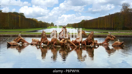 Apollo fountain in the Palace of Versailles in France near Paris - Stock Photo