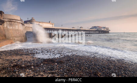 Cromer pier on the Norfolk coast, England - Stock Photo