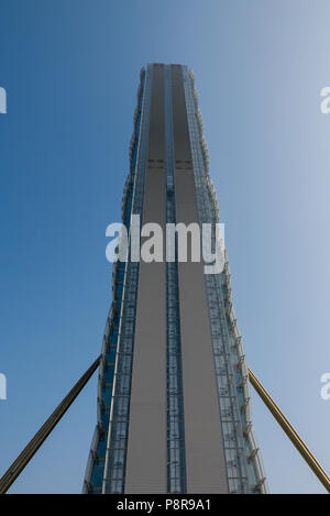 MILAN, ITALY - OCTOBER 15, 2017: Milan (Lombardy, Italy): the skyscraper known as Allianz Building in the new CItylife area (Tre Torri) - Stock Photo