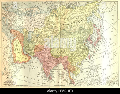 Map Of Asia 1914.1914 Map Of Asia Stock Photo 210644450 Alamy